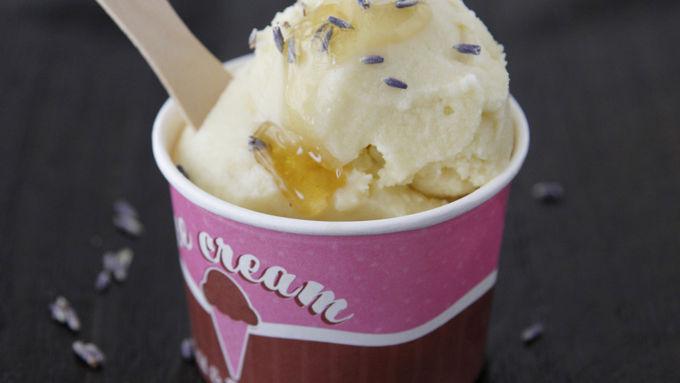 Honey-Lavender Ice Cream