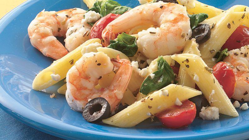 Greek Shrimp and Pasta Bake