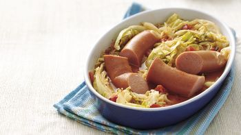 Smoked Sausage and Cabbage Supper