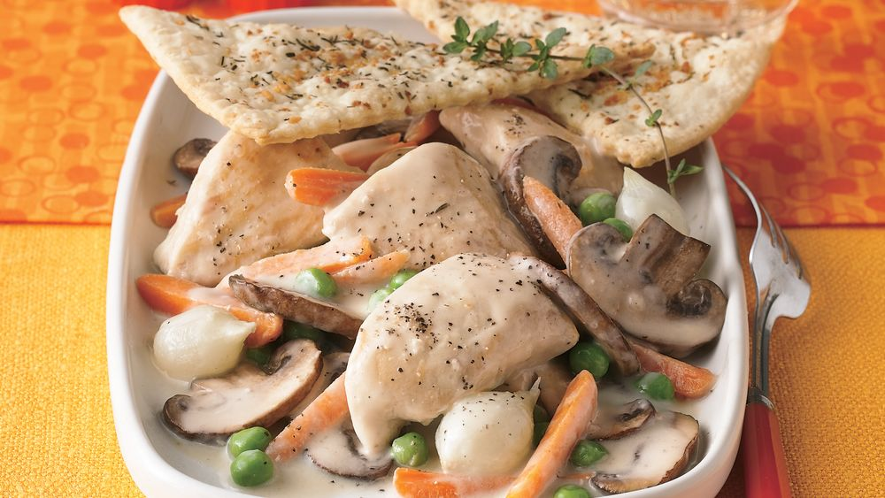 Chicken and Vegetables with Flaky Pastry