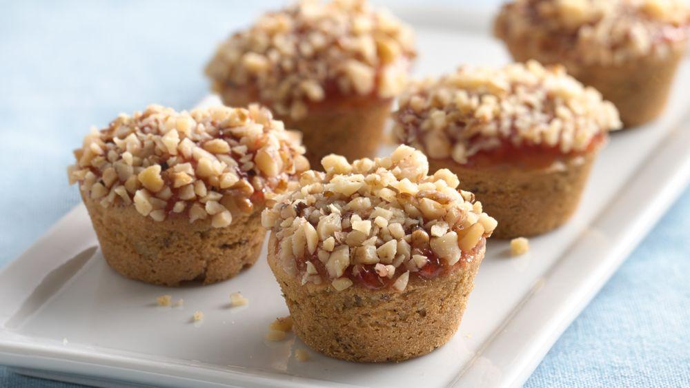 PB&J Mini Walnut Muffins