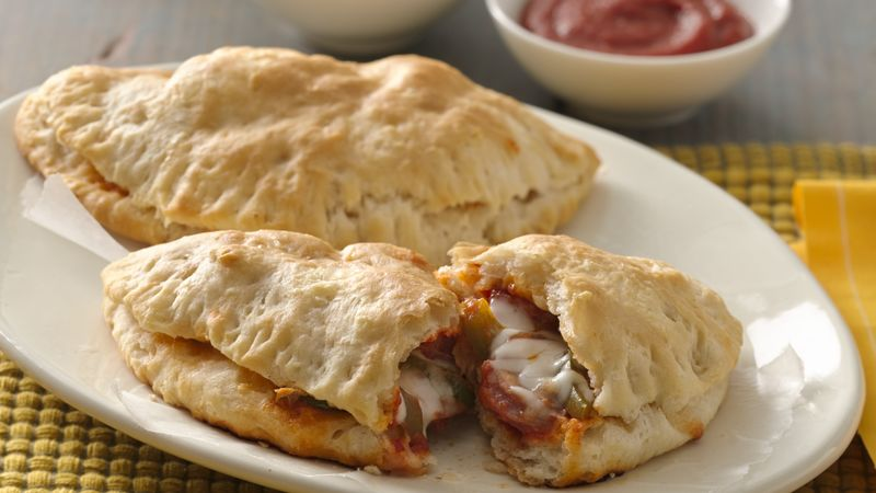 Chicken Sausage Calzones for Two