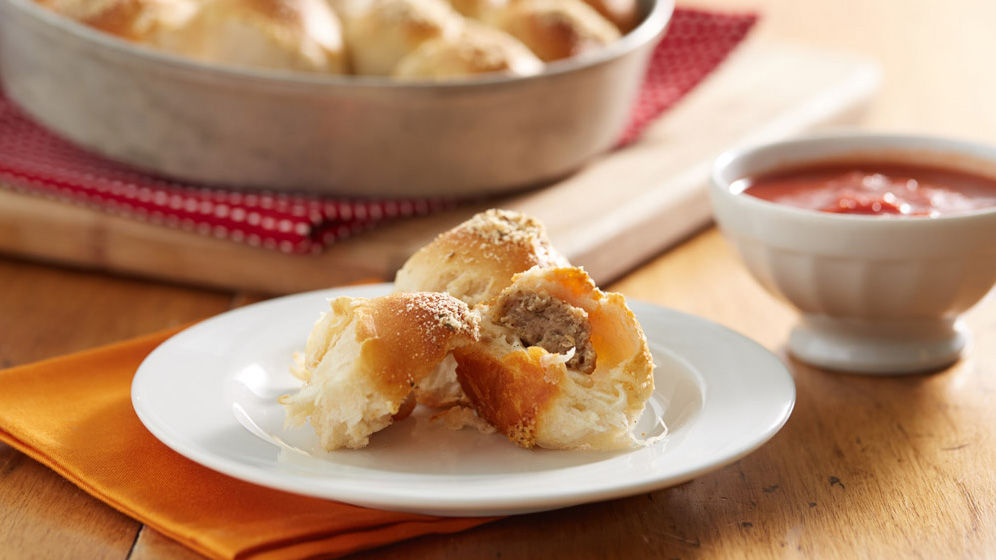 Cheesy Meatball Biscuit Bombs recipe from Pillsbury.com