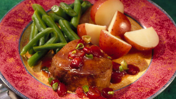 Venison with Cranberry-Wine Sauce