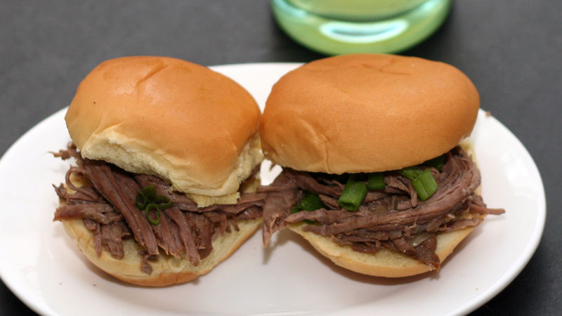 Asian-Inspired Brisket Sliders