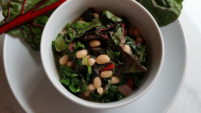 Chard and White Bean Side Dish