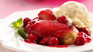 Upside-Down Cherry-Pear Cake