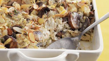 Chicken, Mushroom and Wild Rice Bake