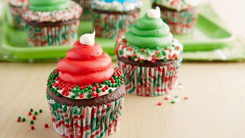 Elf Hat Cupcakes Recipe From Betty Crocker