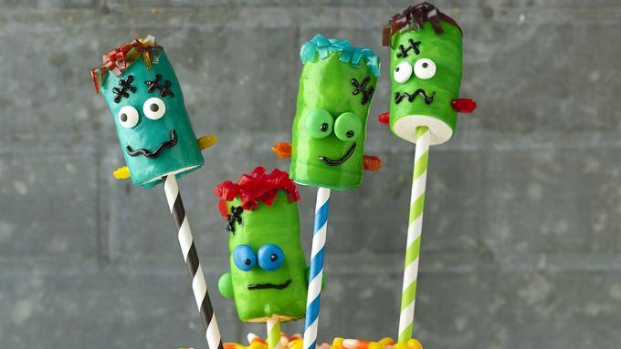 Frankenstein Fruit Roll-Ups™ on a Stick