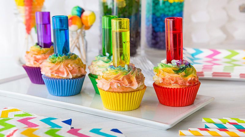Rainbow Shot Cupcakes