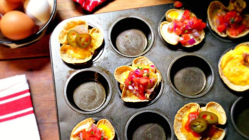 Huevos Rancheros en Cazuelitas de Tortilla