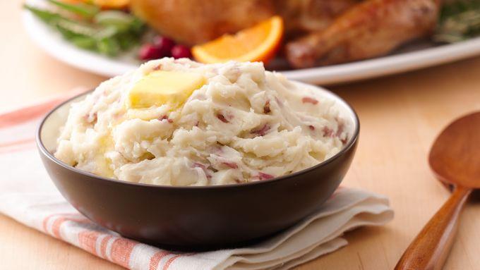 Silky Garlic Mashed Potatoes