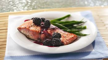 Grilled Blackberry-Glazed Salmon