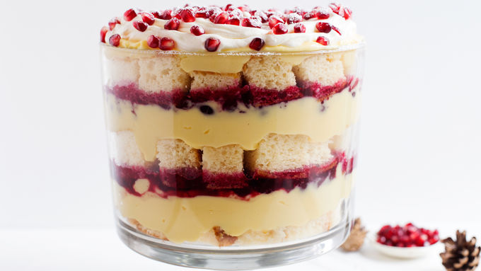 Winter Eggnog Trifle