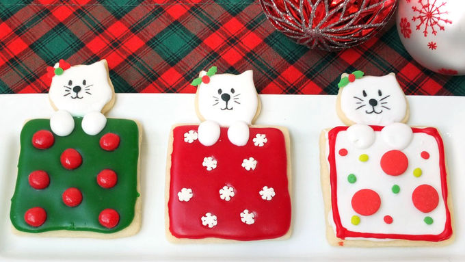 Christmas Cat Cookies