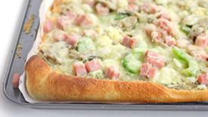 Ham and Swiss Mushroom Pizza