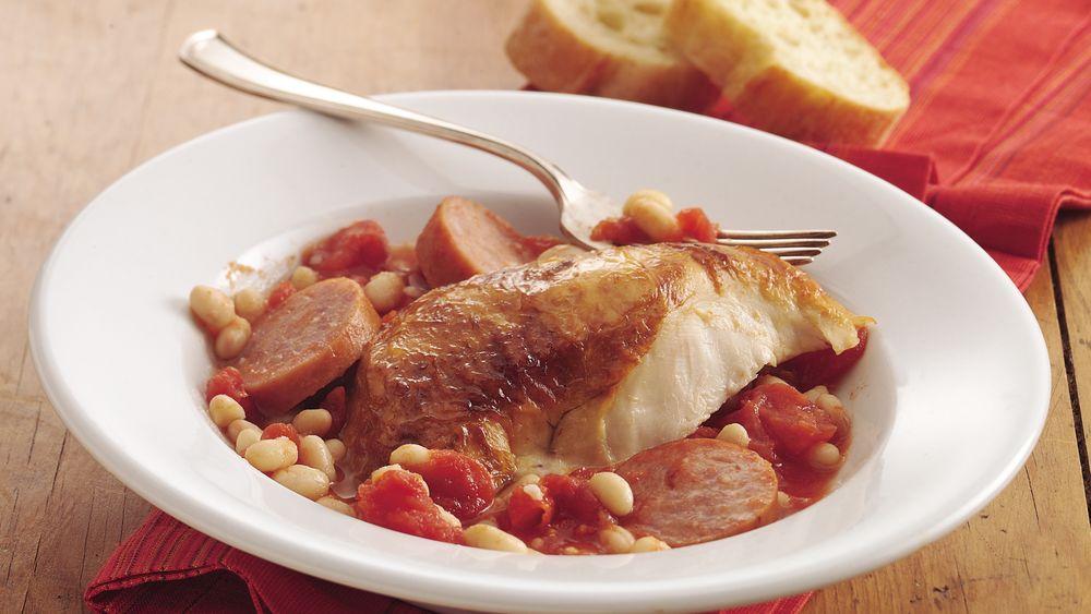 Chicken, Bean and Sausage Casserole