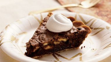 Chocolate Brownie Walnut Pie