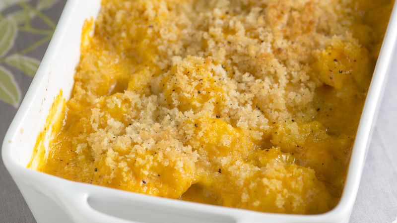 Cheesy Pumpkin Cauliflower Gratin