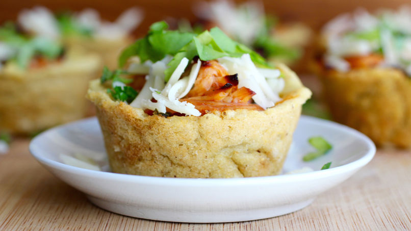 Green Chili Chicken Tamale Cupcakes