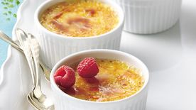 Crème Brûlée with Raspberries Recipe - Tablespoon.com