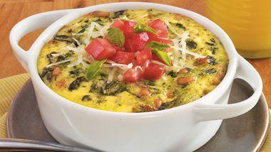 Spinach-Pesto Egg Bakes