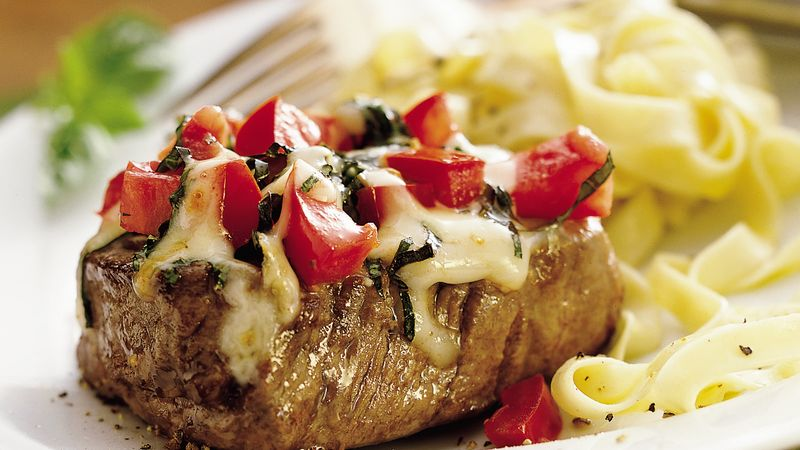 Cheesy Italian Tenderloin Steaks