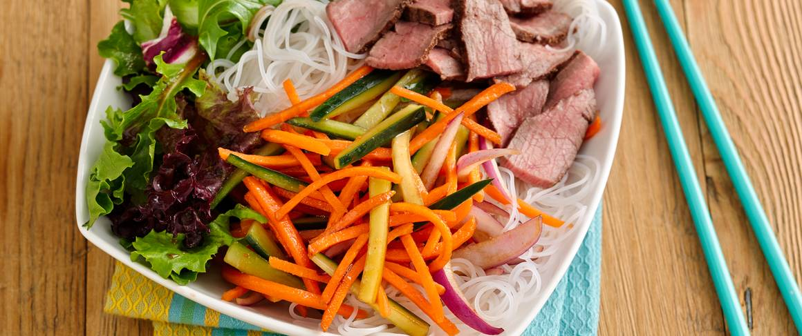 ... -Lime Rice-Noodle Salad Bowl with Beef recipe from Betty Crocker