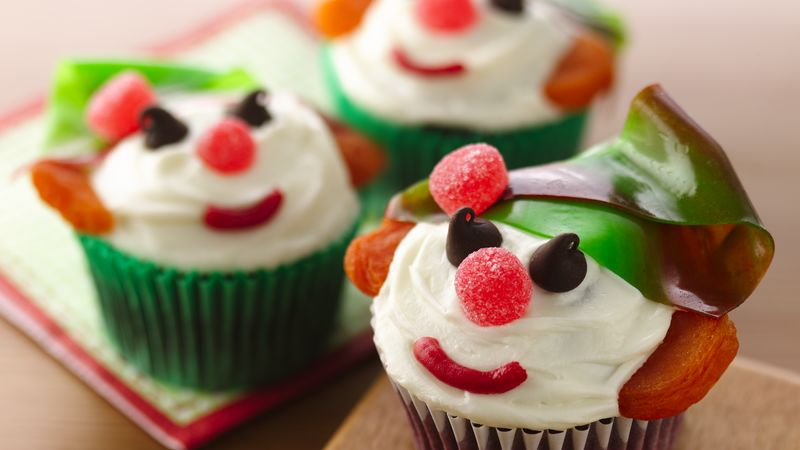 Red Velvet Holiday Elf Cupcakes Recipe From Betty Crocker