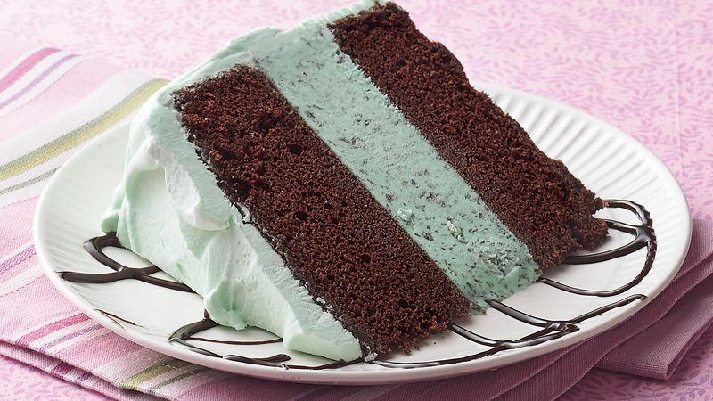 Mint-Chocolate Ice Cream Cake