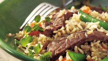 Skillet Beef, Veggies and Brown Rice