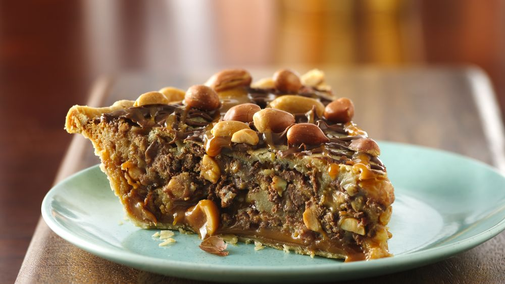 Salted Caramel-Chocolate-Peanut Butter Pie recipe from ...