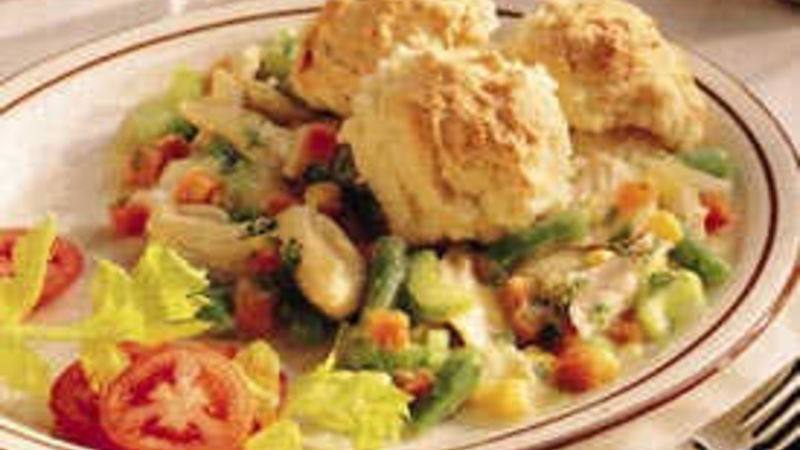 Country Chicken and Biscuits