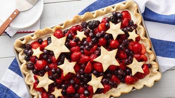 Star-Spangled Red, White & Blue Slab Pie