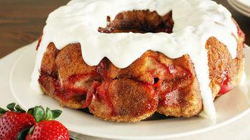 Strawberry Cream Cheese Monkey Bread