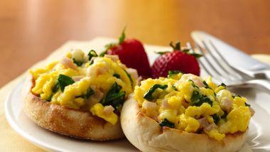 Breakfast Egg Scramble with Brie