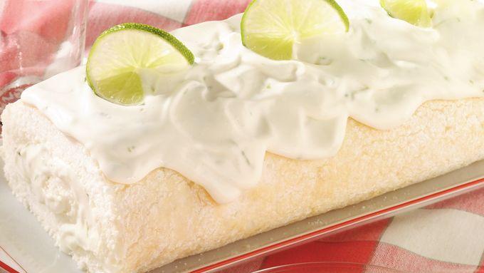 Lime Angel Food Cake Roll