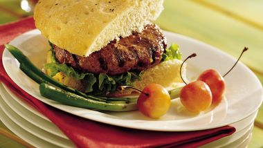 Grilled Sour Cream and Onion Burgers
