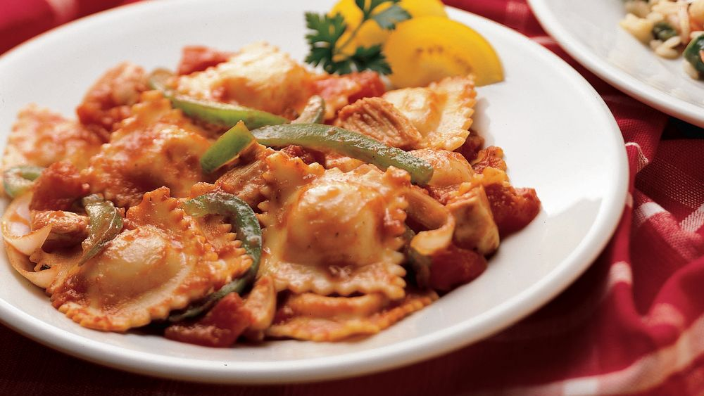 Chicken and Ravioli Cacciatore