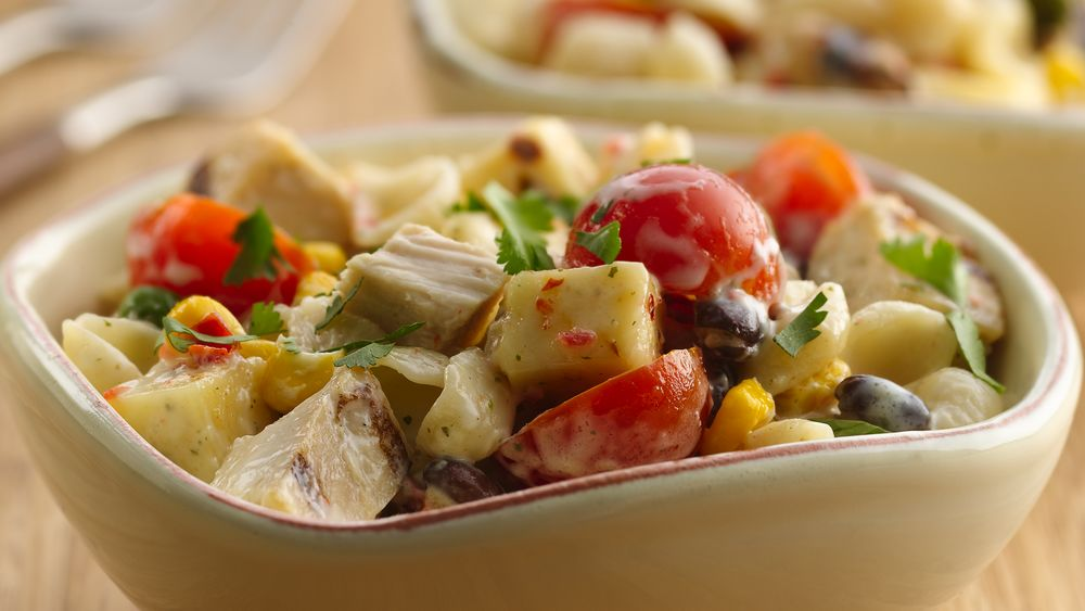 Southwest Chicken Ranch Pasta Salad