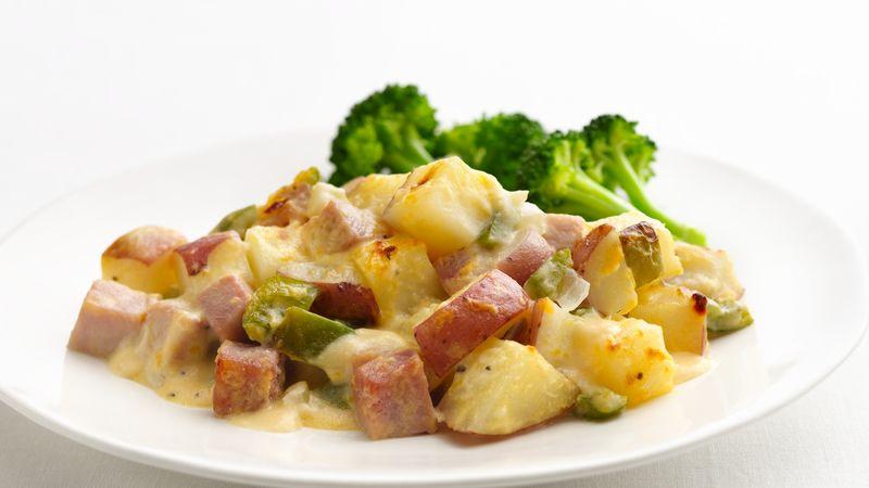 Skinny Ham and Potato Casserole