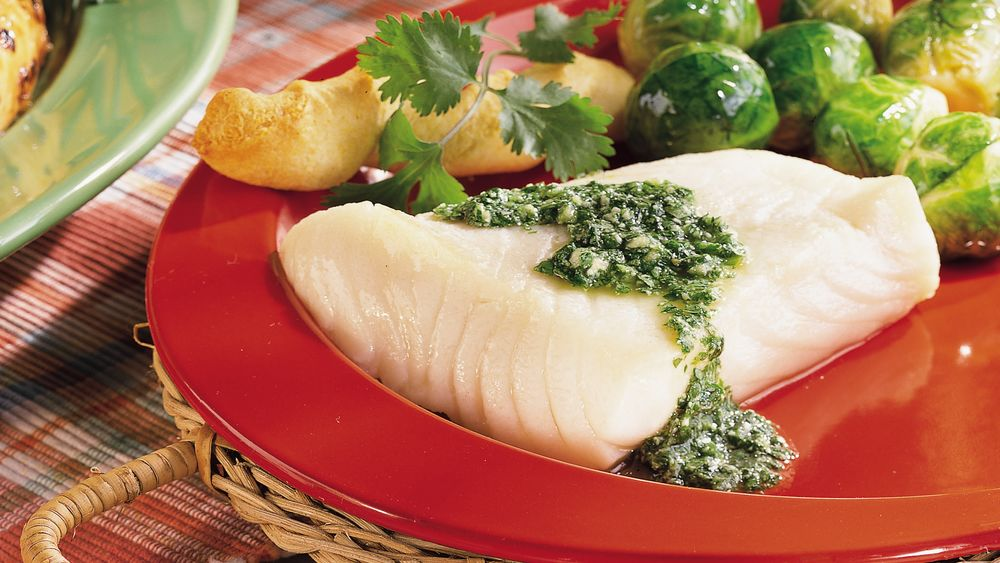 Sea Bass with Chilean Green Sauce