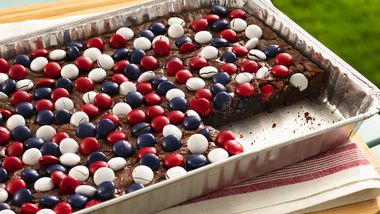 Red, White and Blue M&M's™ Brownies