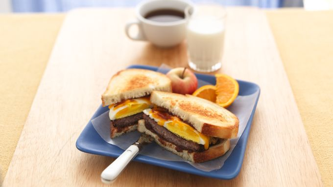 Apple, Cheddar and Sausage Sandwiches