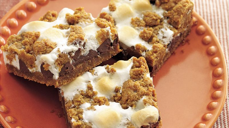 Gooey S'mores Bars recipe from Betty Crocker