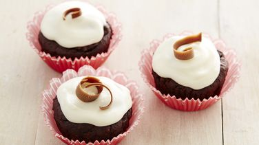Cupcakes de Chocolate Sin Gluten con Glaseado de Queso Crema