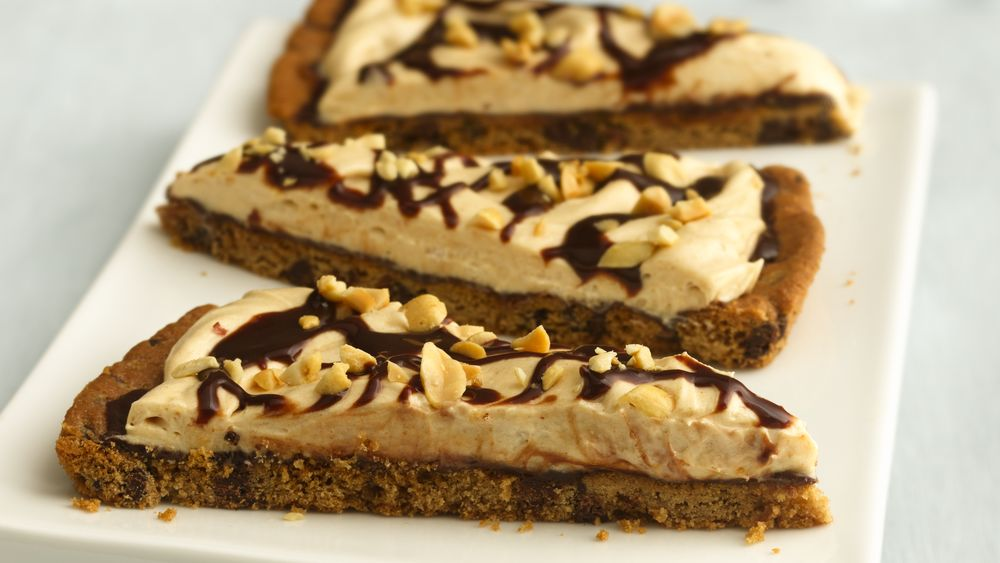 Chocolate-Peanut Butter Cookie Pizza