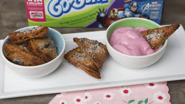 Triángulos de Pita con Yogur Go-Gurt®