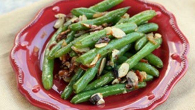 Green Beans with Almonds and Bacon